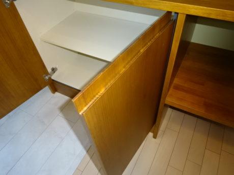 無垢の木の机/収納 LD改修工事