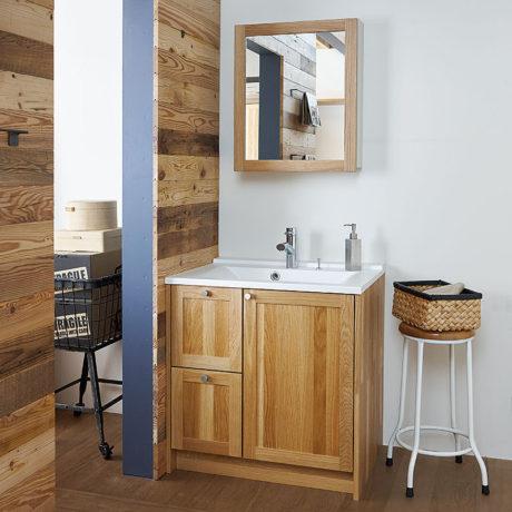 木のリフォーム 無垢の木の洗面台