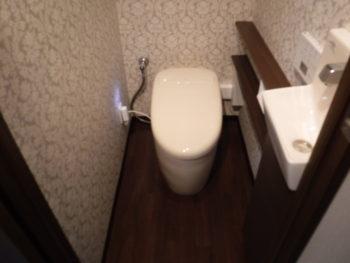 TOTOネオレスト手洗器付(ワンデーリモデル)