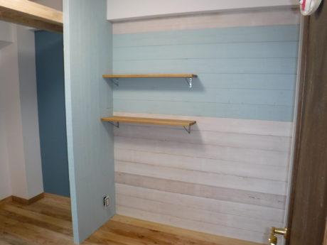 子供室をウッドパネル(杉無垢材)でデザイン